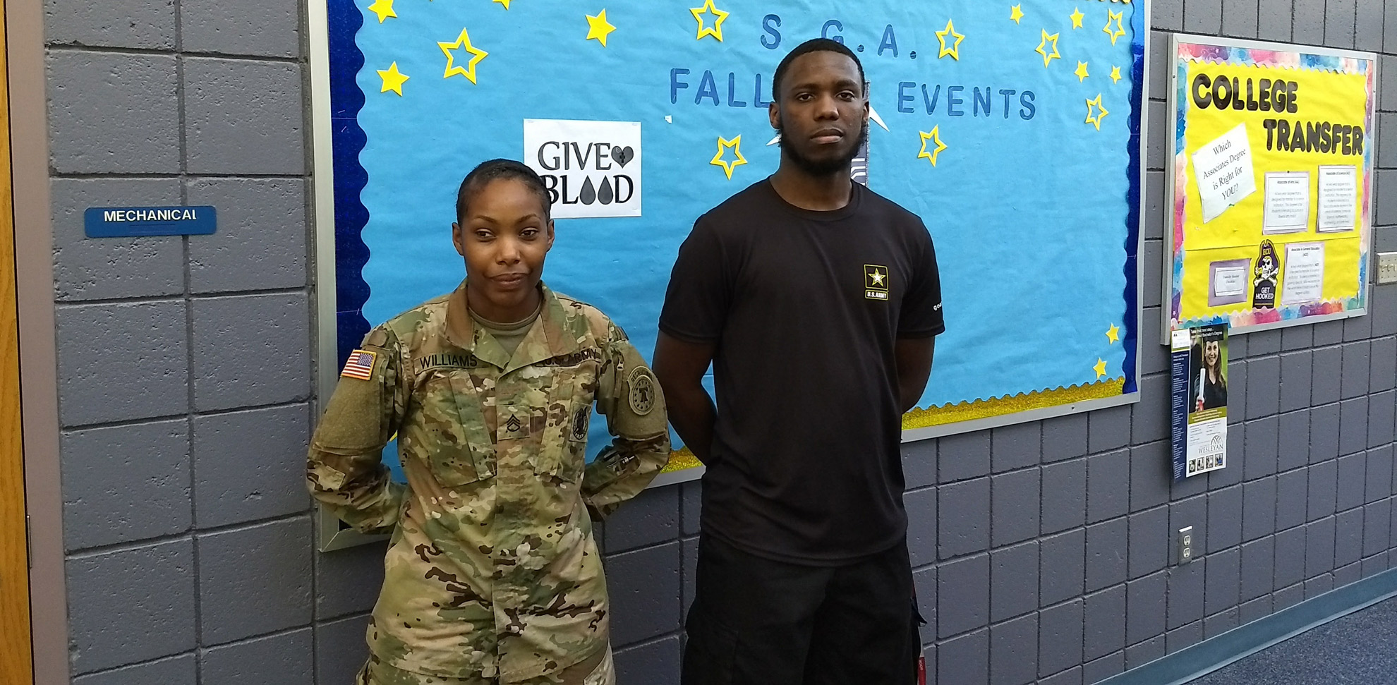 Sgt. Danielle Williams (left) with Pvt. Daniel Maultsby