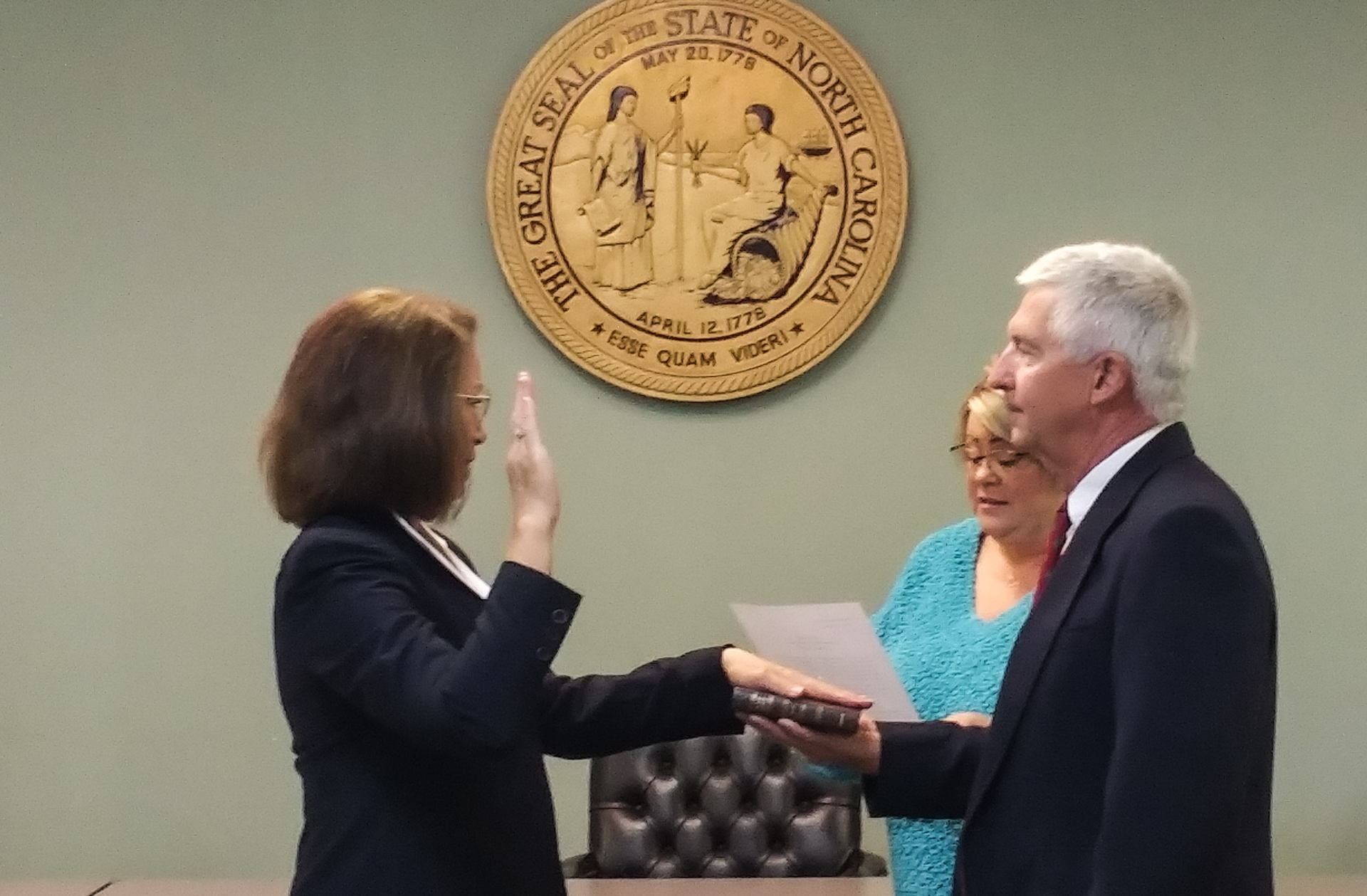 a person swearing in